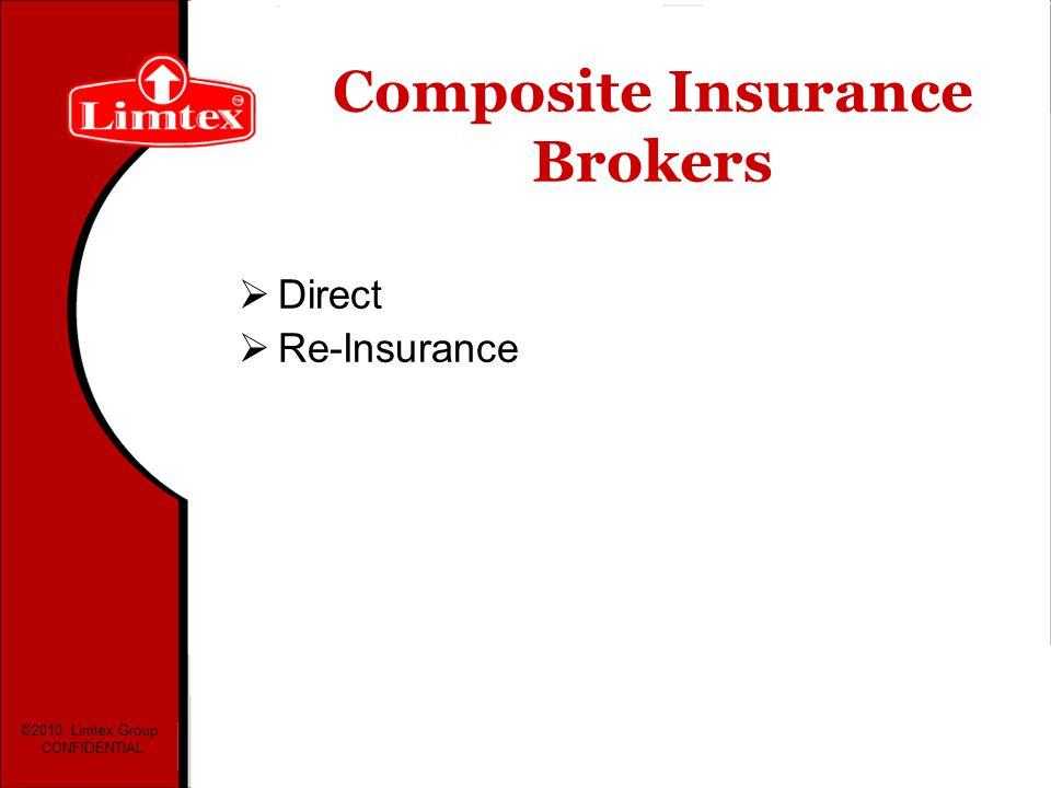 Composite Insurance Brokers Direct Re-Insurance ©2010 Limtex Group CONFIDENTIAL