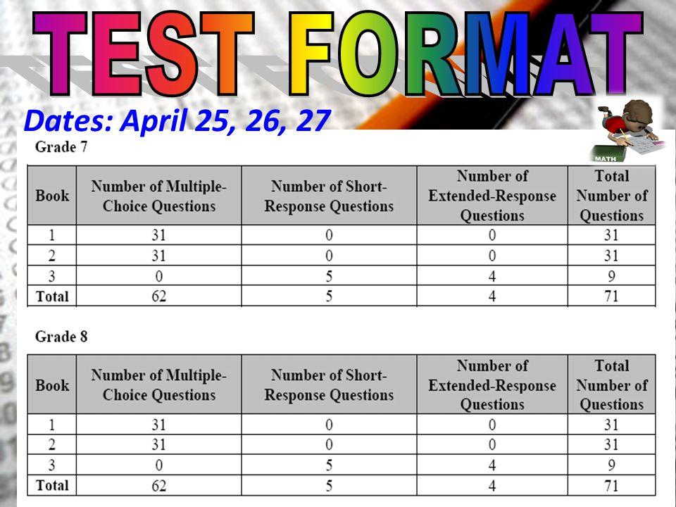 Dates: April 25, 26, 27