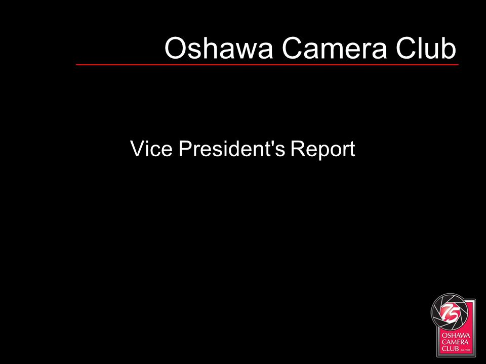 Oshawa Camera Club Vice President's Report