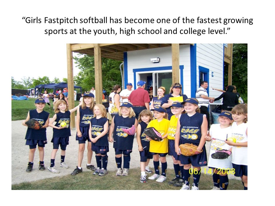 2009 Softball Field Times 2009 (Adding Bulldog Park) April - May Fields Available - 647 June Fields Available - 508 July Fields Available - 493 This would give a total of Available Slots for the Softball Season - 1648 Field Times.
