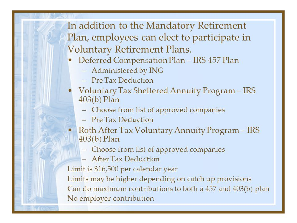 Classified employees participate in the Kansas Public Employees Retirement System (KPERS). Tier 1 - Full retirement at age 65 with 1 year of service,