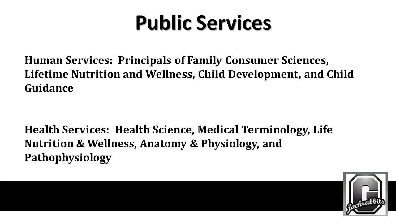 Public Services Human Services: Principals of Family Consumer Sciences, Lifetime Nutrition and Wellness, Child Development, and Child Guidance Health
