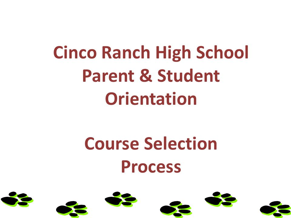 Welcome To Cinco Ranch High School - Class of 2017