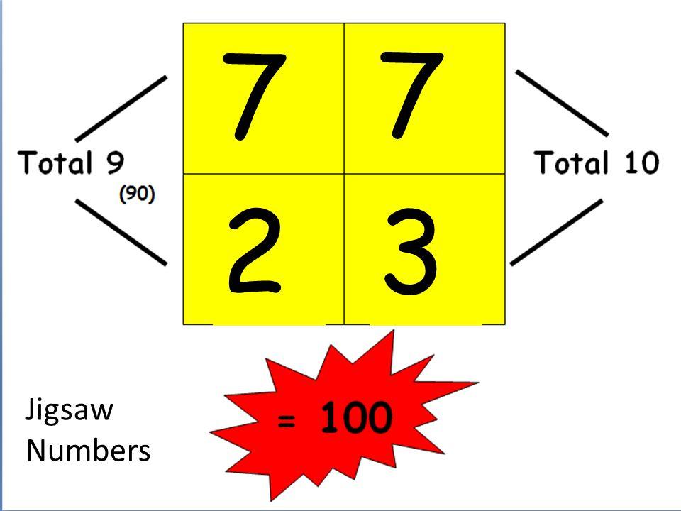 7 7 2 3 Jigsaw Numbers