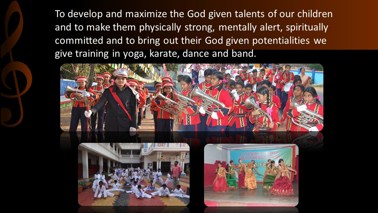 To develop and maximize the God given talents of our children and to make them physically strong, mentally alert, spiritually committed and to bring o