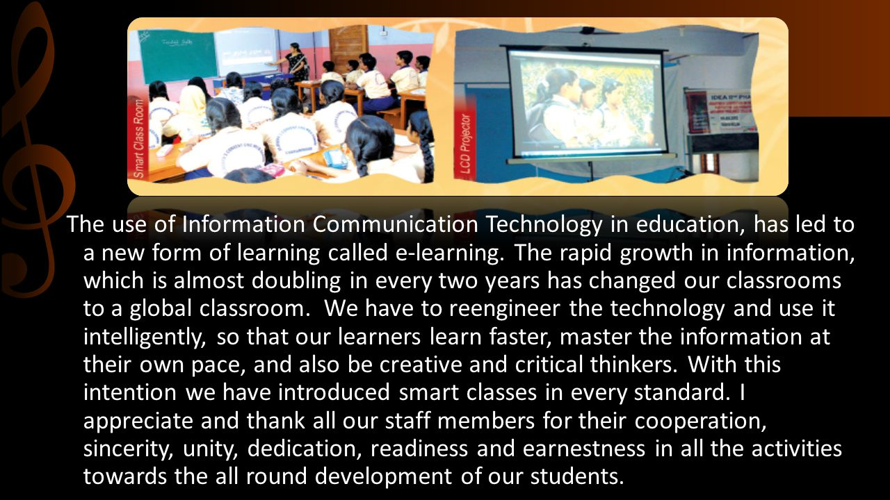 The use of Information Communication Technology in education, has led to a new form of learning called e-learning. The rapid growth in information, wh