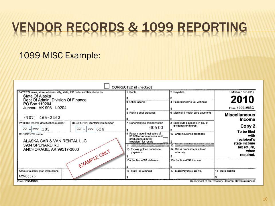 1099-MISC Example: 10