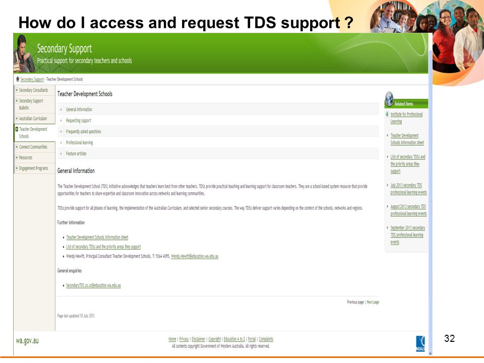 32 How do I access and request TDS support