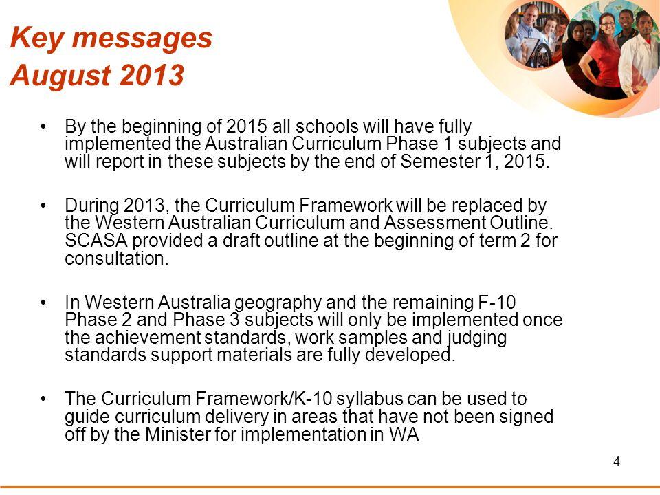 5 Site for endorsed Australian Curriculum documents