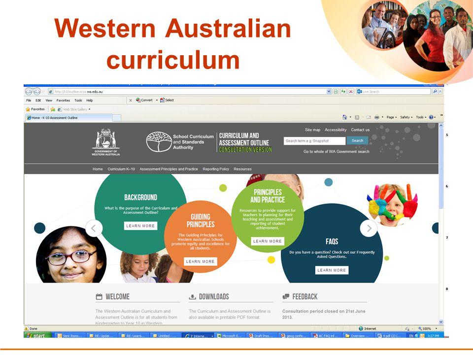 7 Australian Curriculum in the Western Australian Curriculum