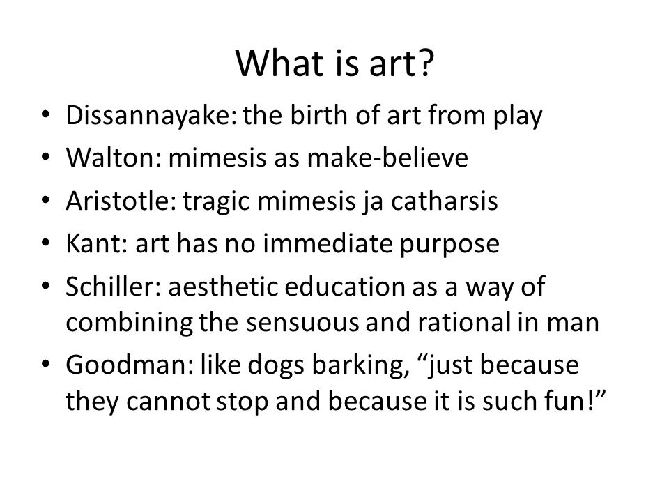 What is art.