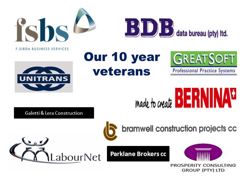 Parklane Brokers cc Galetti & Lera Construction Our 10 year veterans
