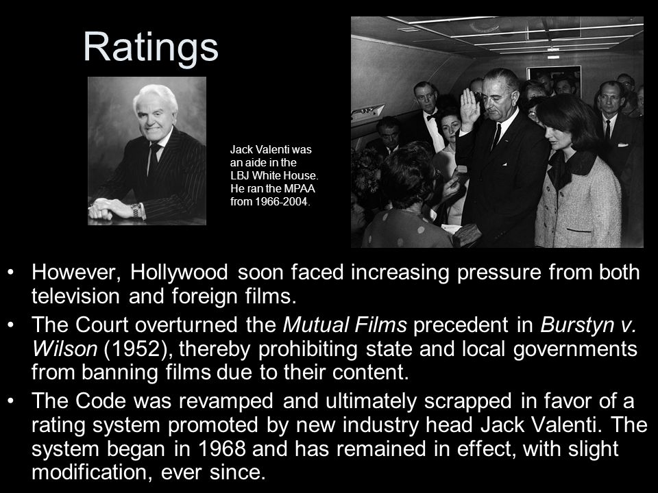 Ratings However, Hollywood soon faced increasing pressure from both television and foreign films.