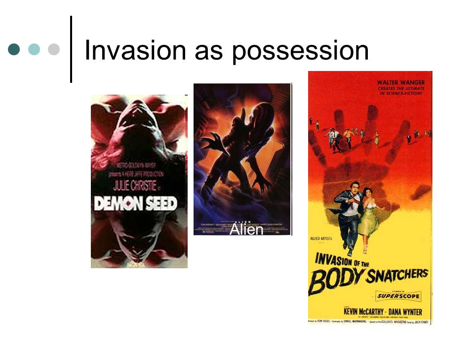 Invasion as possession Alien