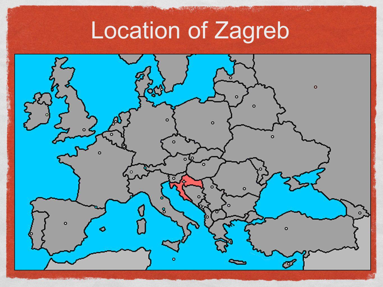 Location of Zagreb