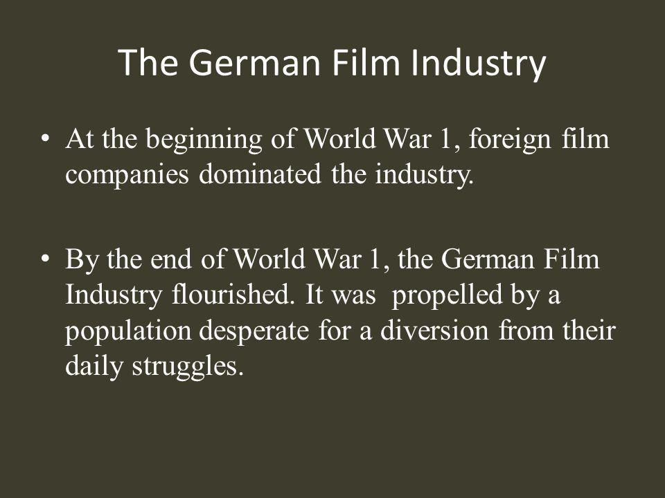 UFA UFA (Universum Film Aktiengelleschaft) became a leader in the German Film Industry.