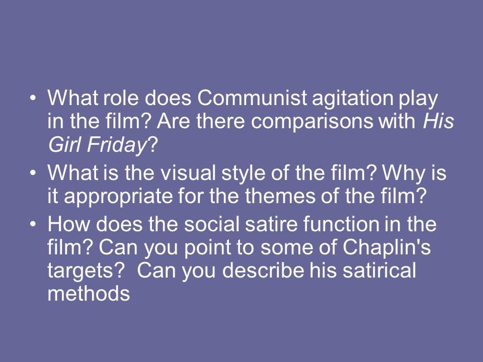 What role does Communist agitation play in the film.