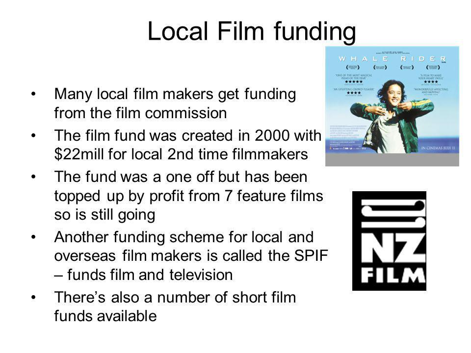 Local Film funding Many local film makers get funding from the film commission The film fund was created in 2000 with $22mill for local 2nd time filmm