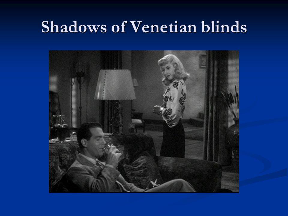 Shadows of Venetian blinds