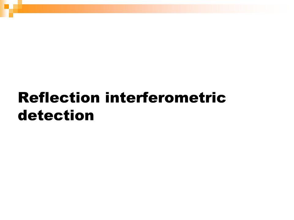 Reflection interferometric detection