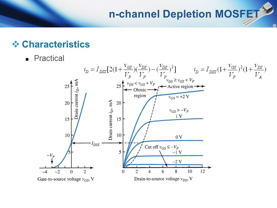 n-channel Depletion MOSFET Characteristics Practical