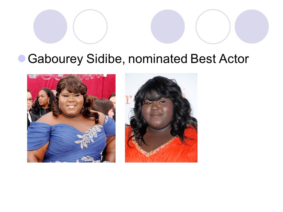 Gabourey Sidibe, nominated Best Actor