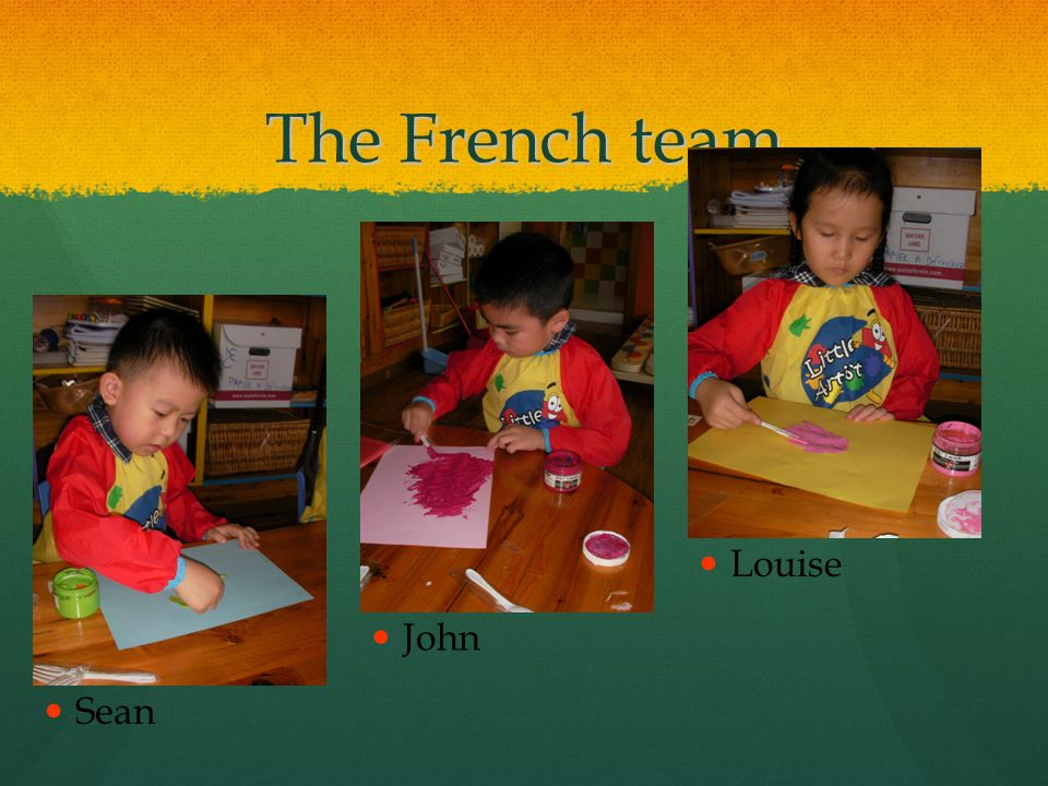 The French team John Louise Sean