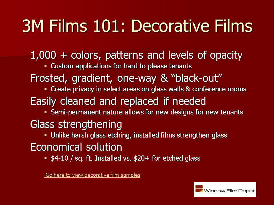 Decorative Films: Low-Cost Facelift