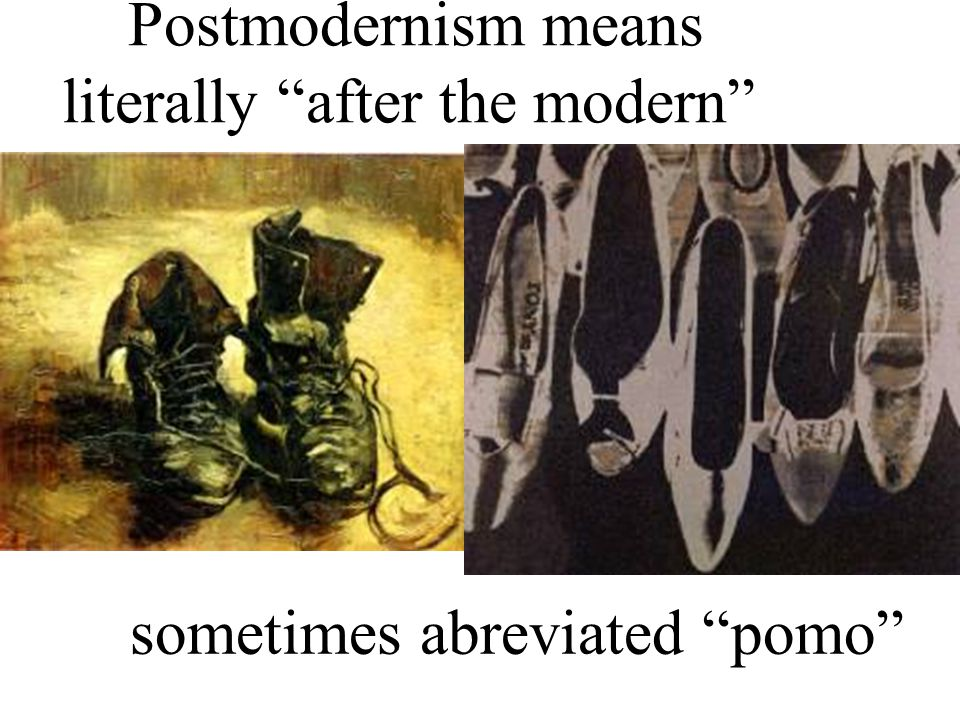 Post modernism frequently comments on film making