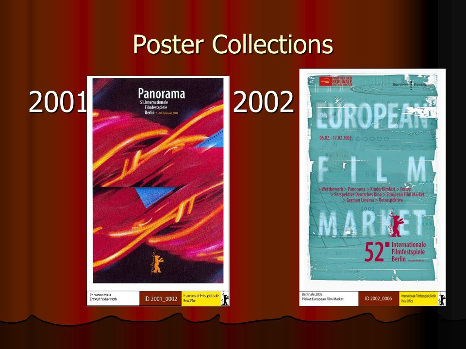 Poster Collections 2001 2002