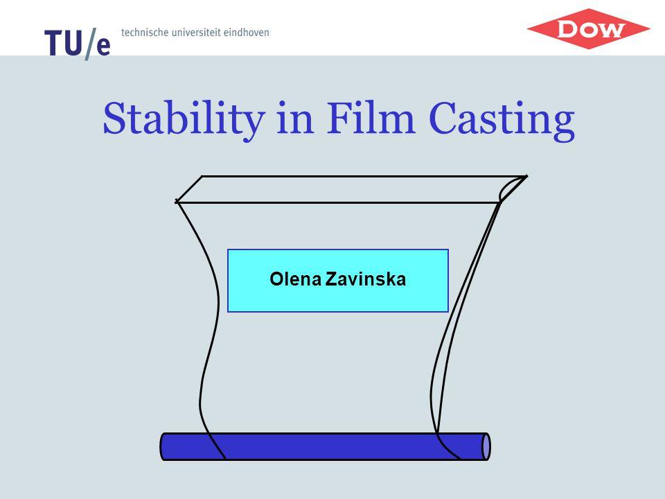 Stability in Film Casting Olena Zavinska
