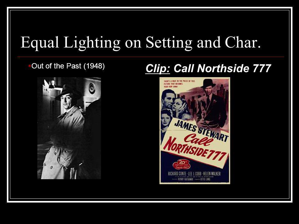 Equal Lighting on Setting and Char. Clip: Call Northside 777 Out of the Past (1948)