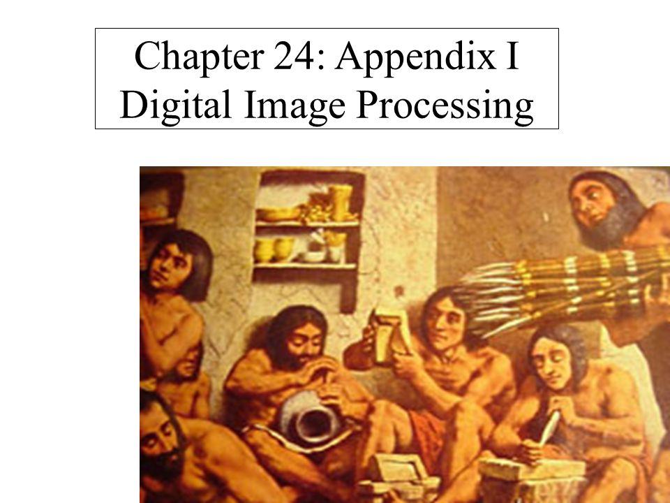 Chapter 24: Appendix I Digital Image Processing