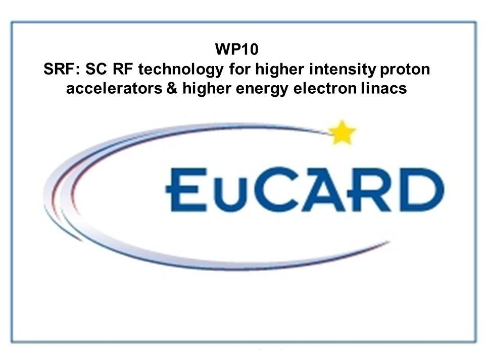 D.Proch EuCARD kick-off, CERN,Dec.08 WP 10 SRF