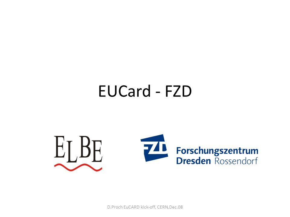 D.Proch EuCARD kick-off, CERN,Dec.08 EUCard - FZD
