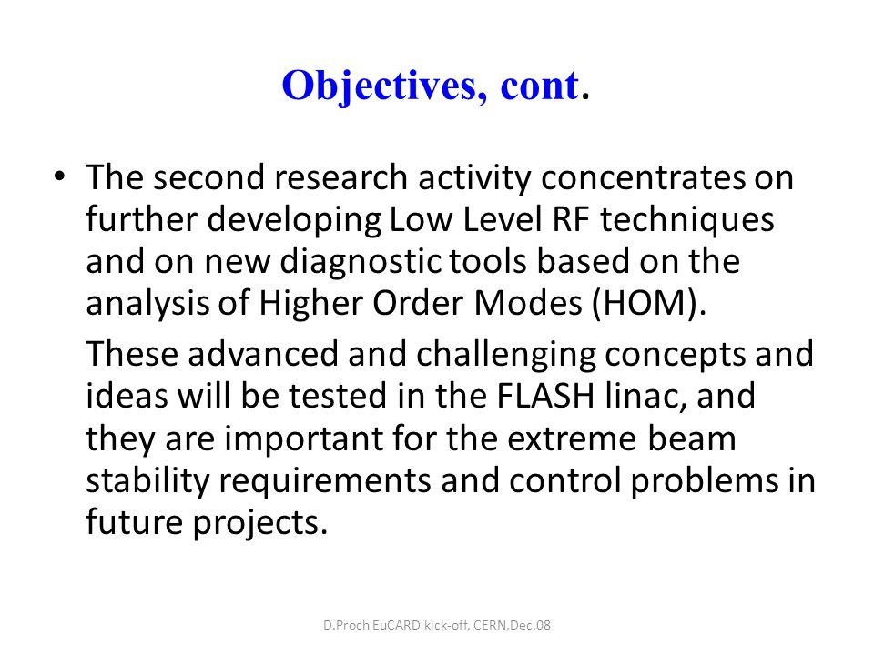 WP10.5 HOM Distribution Development of HOM based beam position monitors (HOMBPM).