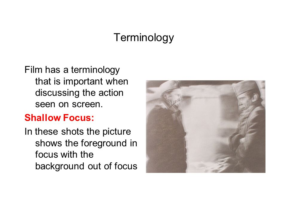 Terminology Film can use a matte ( a mask around the object ) to focus attention on the important piece of the subject.