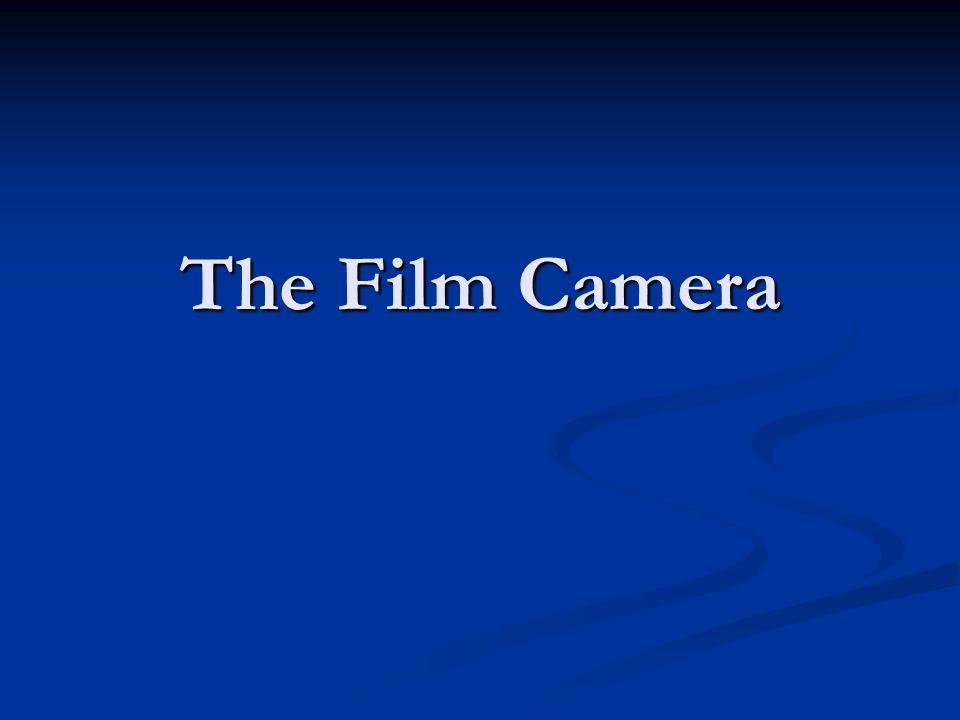 Camera Basics A still film camera is made of three basic elements: an optical element (the lens), an optical element (the lens), a chemical element (the film) a chemical element (the film) and a mechanical element (the camera body itself).