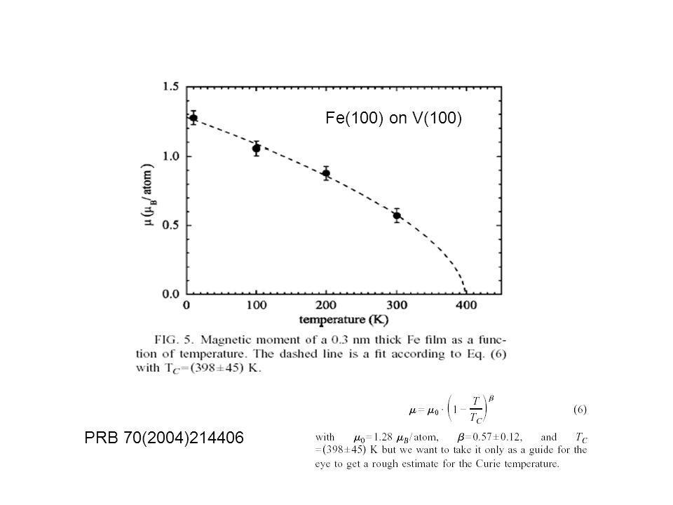 PRB 70(2004)214406 Fe(100) on V(100)