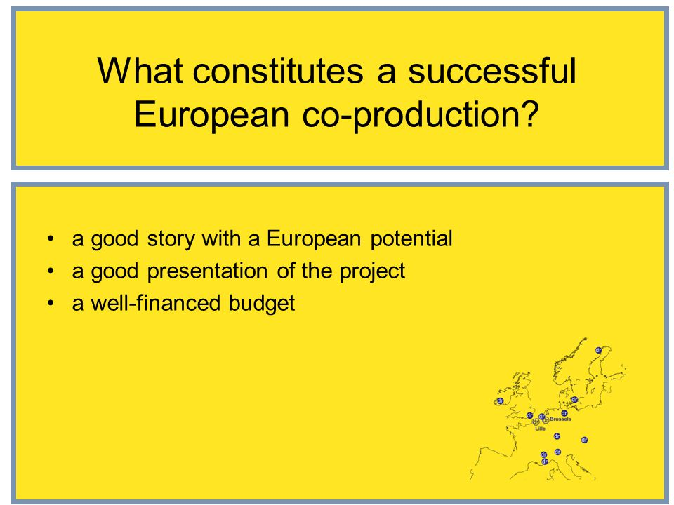 What constitutes a successful European co-production.