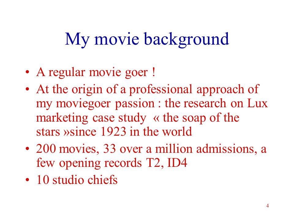 4 My movie background A regular movie goer .