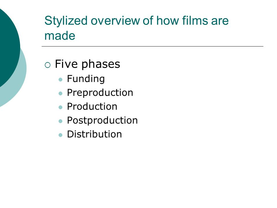 Potential data sources Usefulness of hard data on aspects like Number of films made in each country Average cost per film Amount grossed by films (nationally and internationally) Employment in the film industry Potential use of (within-country) contrasting cases along certain dimensions, e.g.