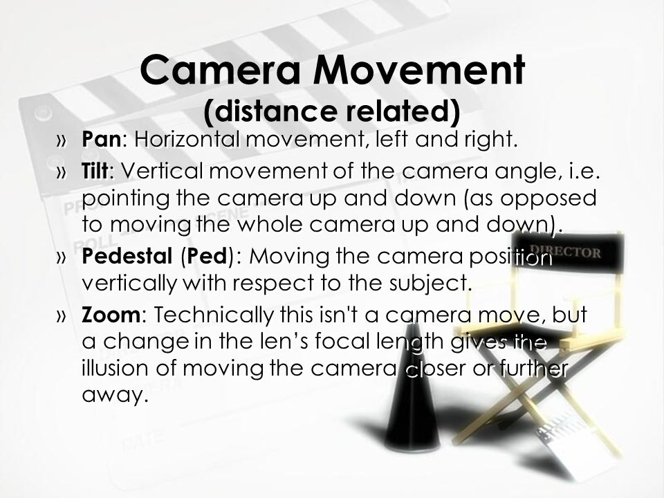 Camera Movement Tripod: piece of equipment that holds a camera