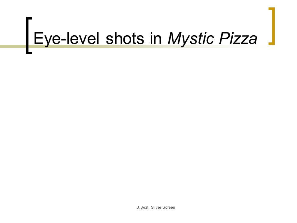 J. Arzt, Silver Screen Eye-level shots in Mystic Pizza
