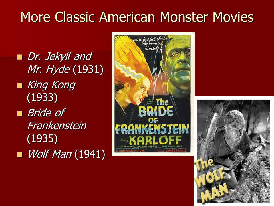 More Classic American Monster Movies... Dr. Jekyll and Mr.