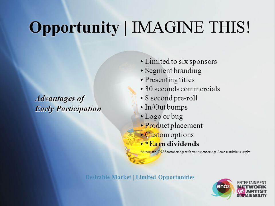 Opportunity | IMAGINE THIS.