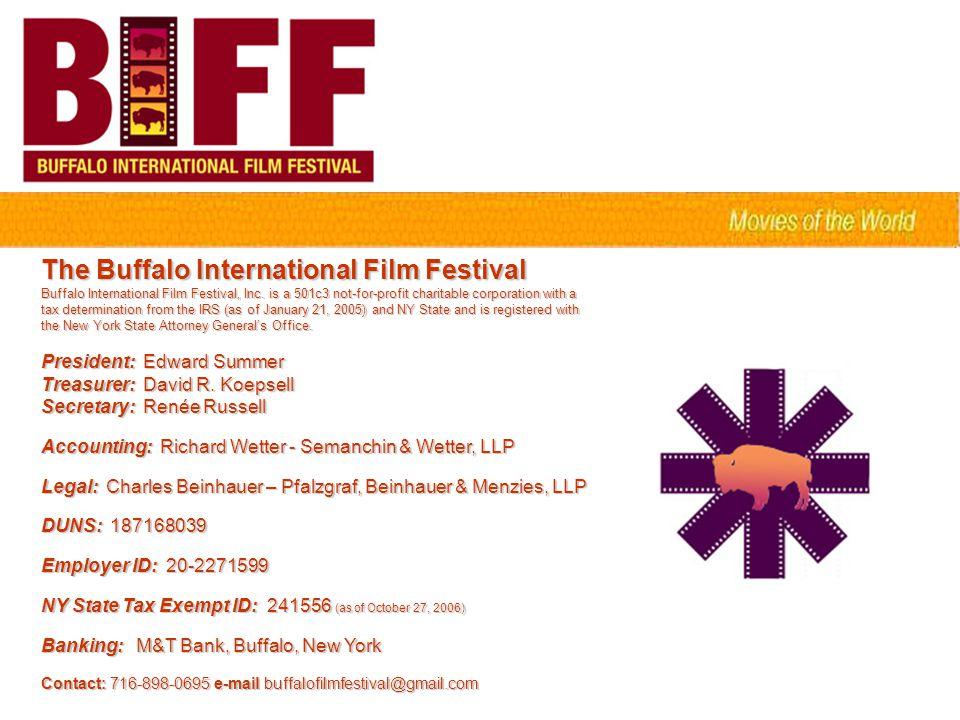 The Buffalo International Film Festival Buffalo International Film Festival, Inc.