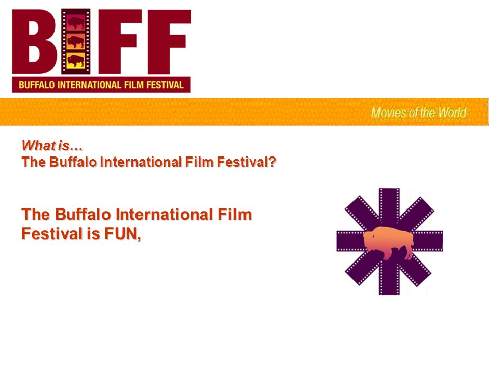 What is… The Buffalo International Film Festival? The Buffalo International Film Festival is FUN,