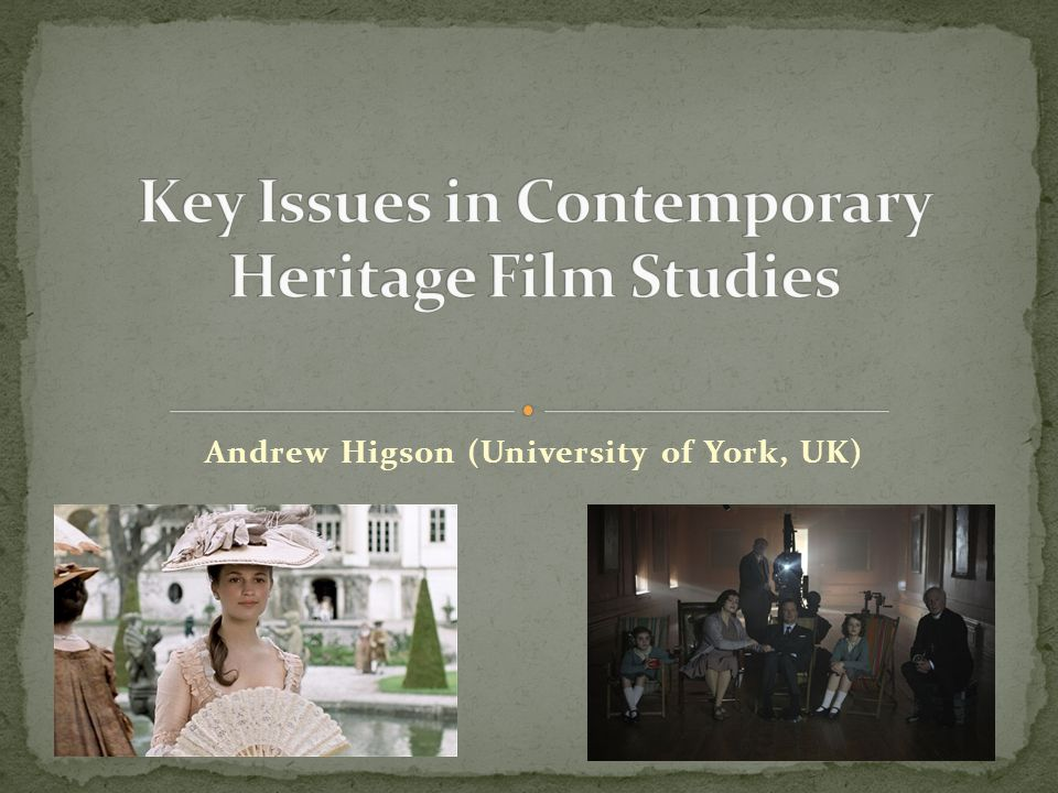 Andrew Higson (University of York, UK)