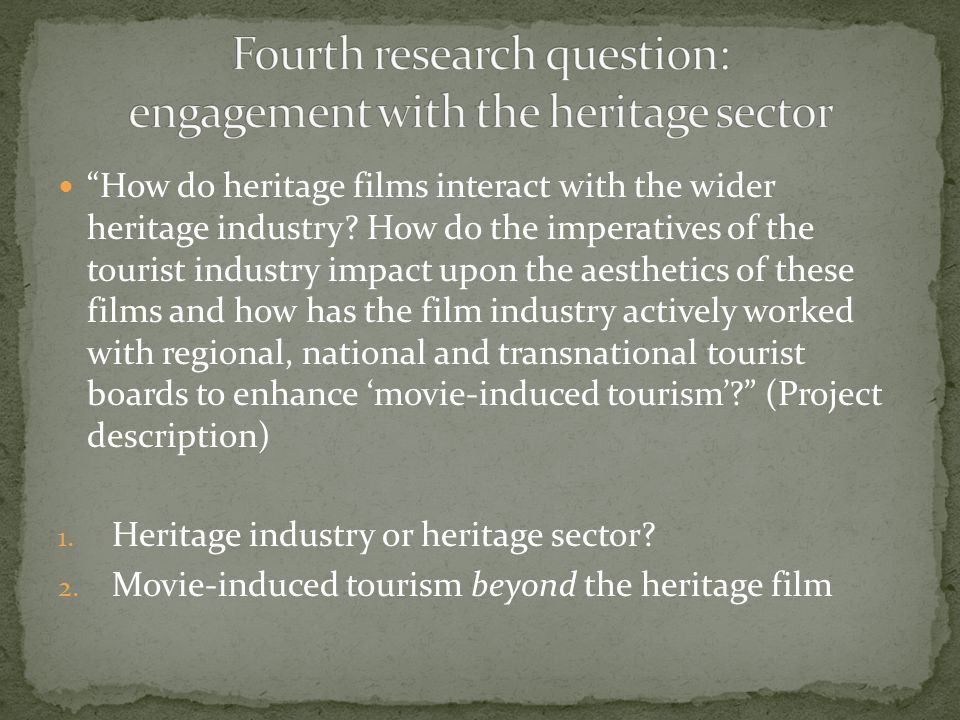 How do heritage films interact with the wider heritage industry.